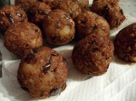 "Vegan Eggplant ""Meat""balls After Frying"