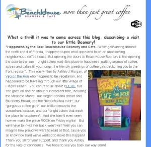 BeachHouse Beanery Newsletter