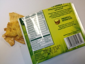 Chiquita Super Crunchy Fruit Chips - Pineapple Nutrition Facts