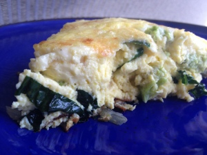 Romanesco Frittata with Kale and Rainbow Chard