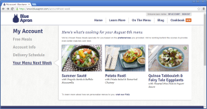 Blue Apron Upcoming Menu View Online